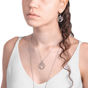 Lumoava Enchanted small pendant and earrings