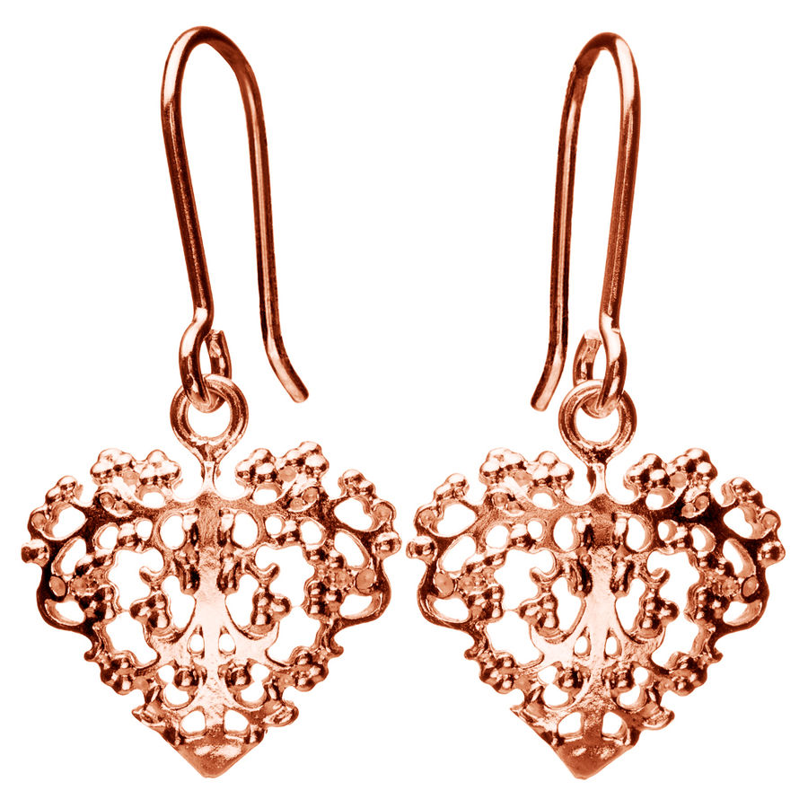 Lumoava Bella earrings, rose gold plated