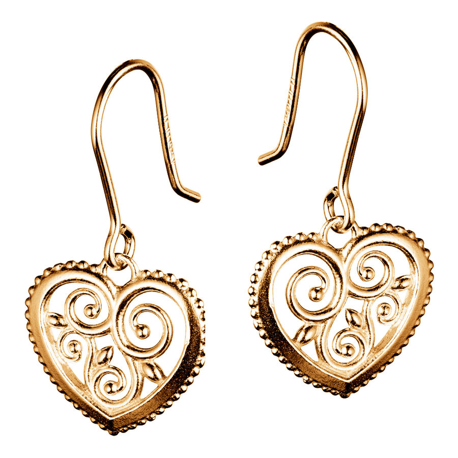 Lumoava Hearts earrings, gold plated