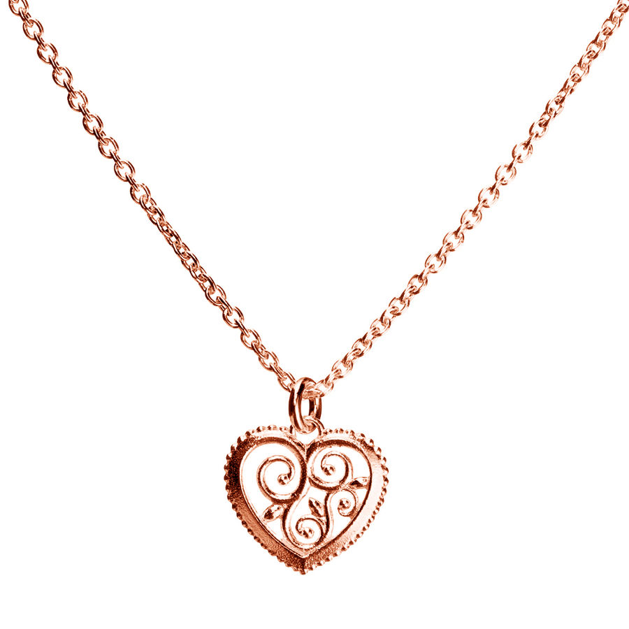 Lumoava Hearts pendant, rose gold plated