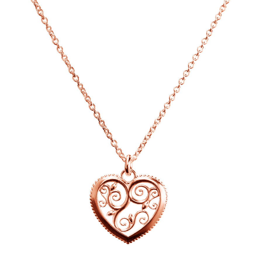 Lumoava Hearts pendant (rose gold plated)