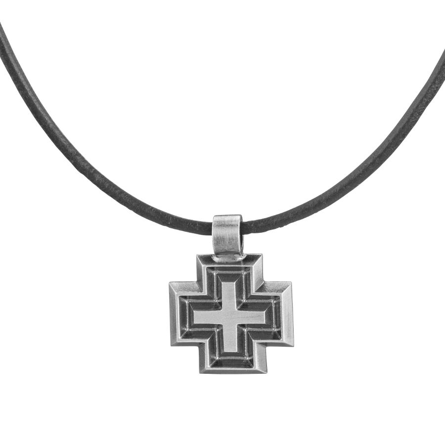Lumoava Faith small pendant, Leather ribbon