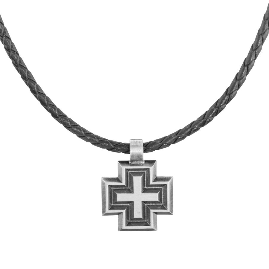 Lumoava Faith pendant, leather ribbon