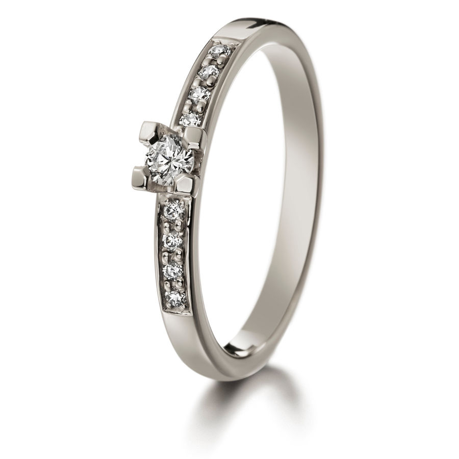 Lumoava Diana diamond ring (white gold)