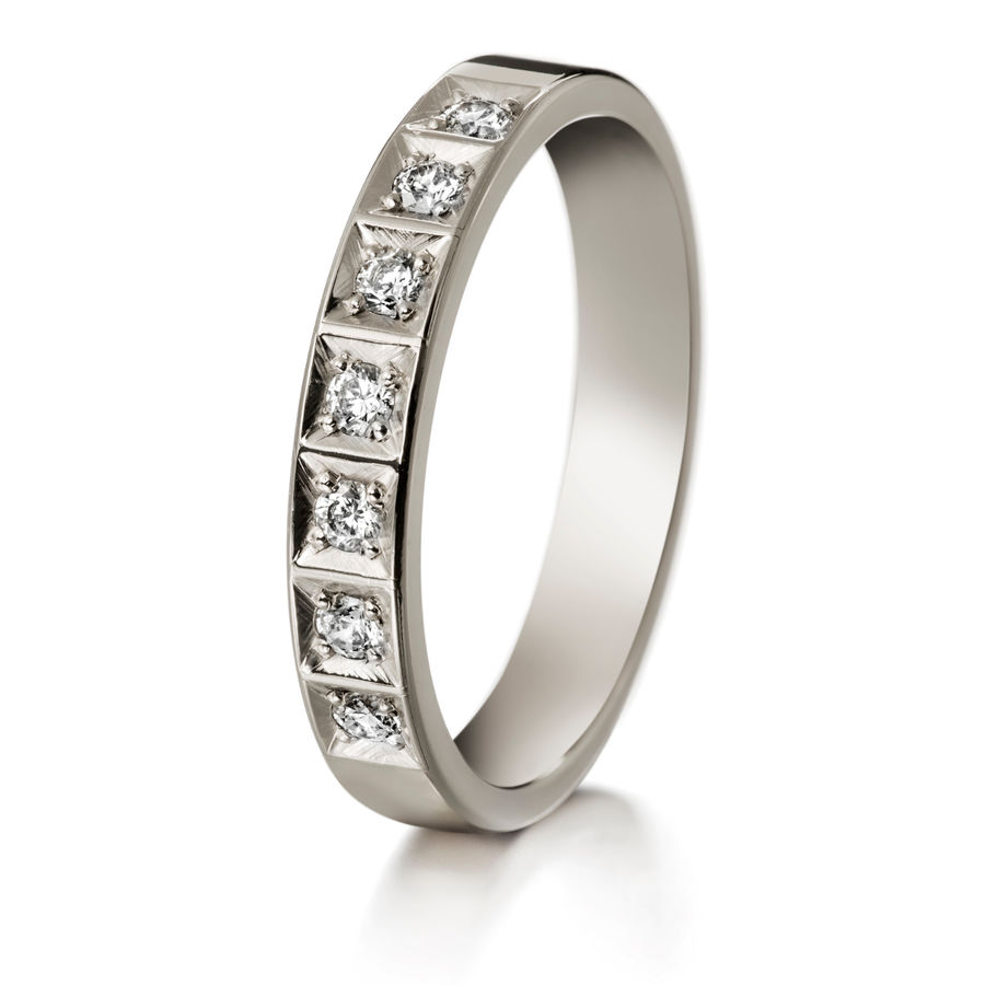 Lumoava Veil diamond ring (white gold)