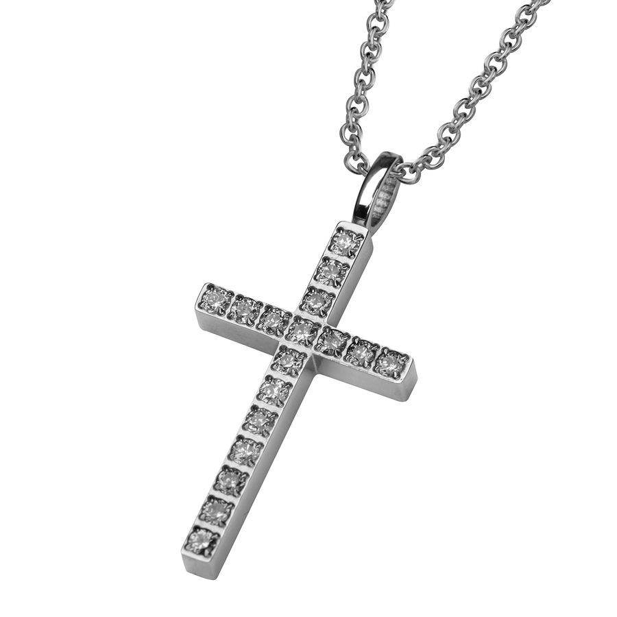 Steel cross 28mm