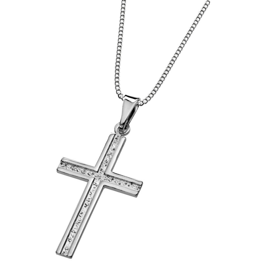 Silver cross pendant 15x28mm