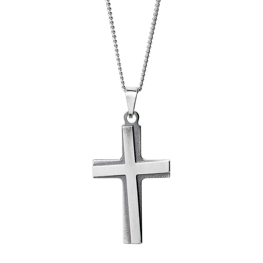 Silver cross 30mm