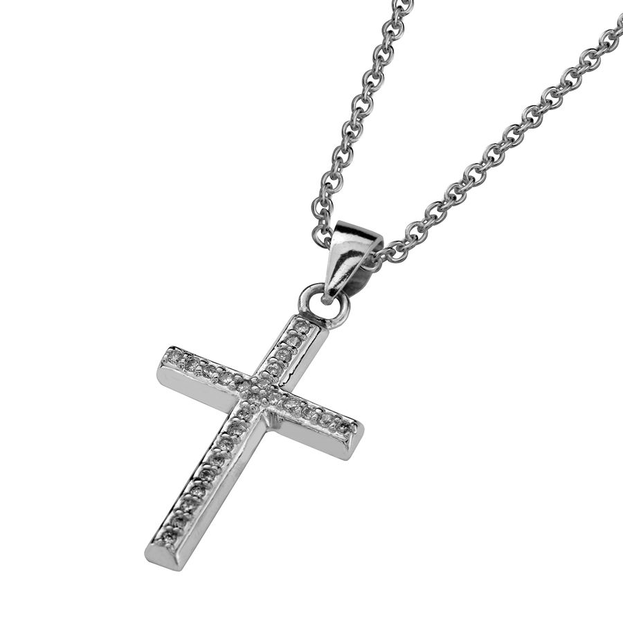 Silver cross 16x22mm