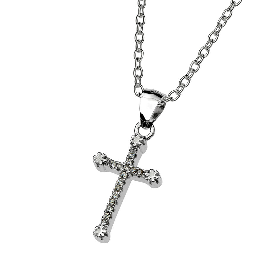 Silver cross pendant 20mm
