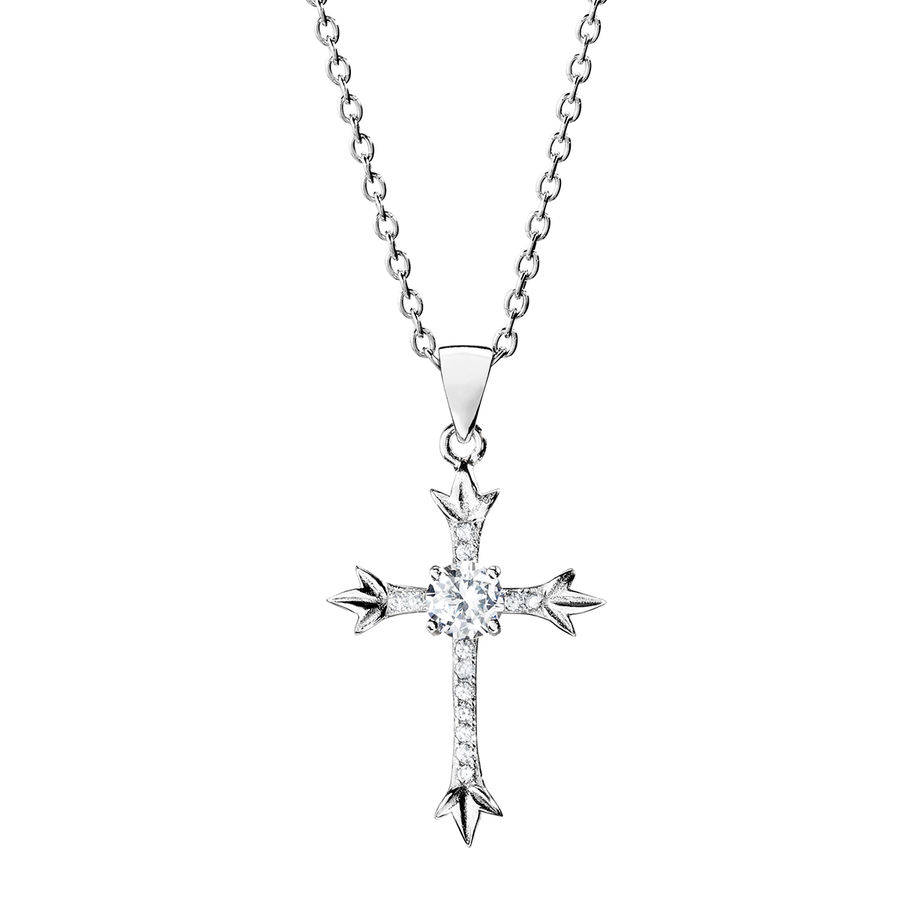 Silver cross pendant 28mm