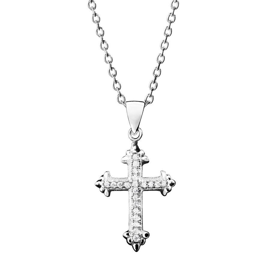 Silver cross pendant 23mm