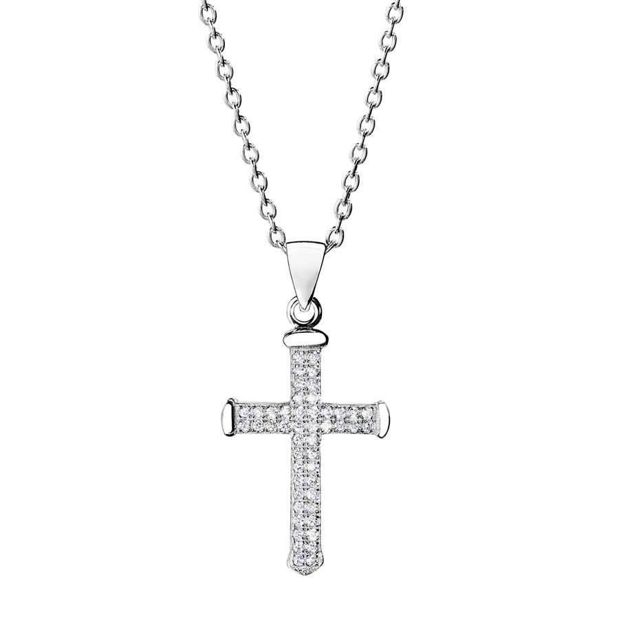 Silver cross pendant 26mm - Sorea Cross