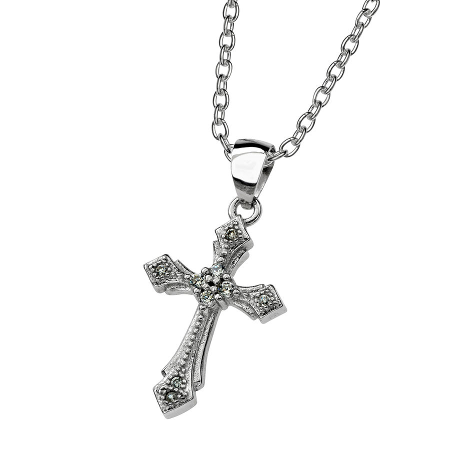 Silver cross 21mm