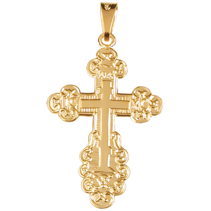 Gold orthodox cross