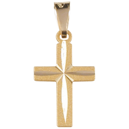 Gold cross pendant 11x20mm