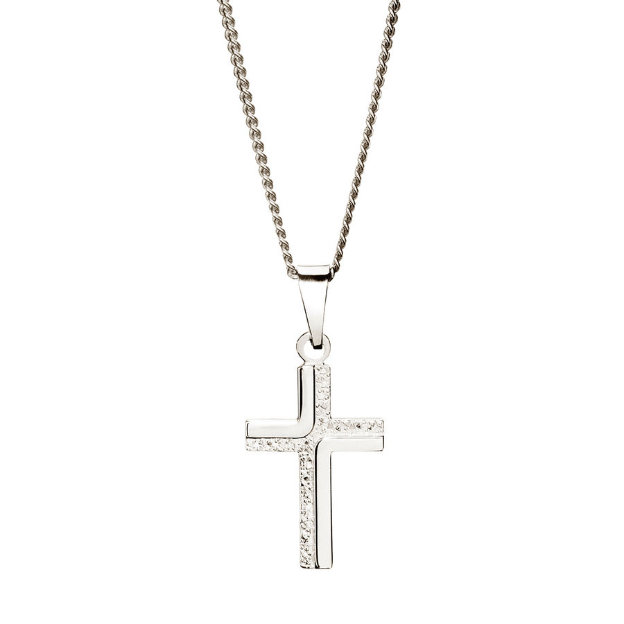 White gold cross 20mm