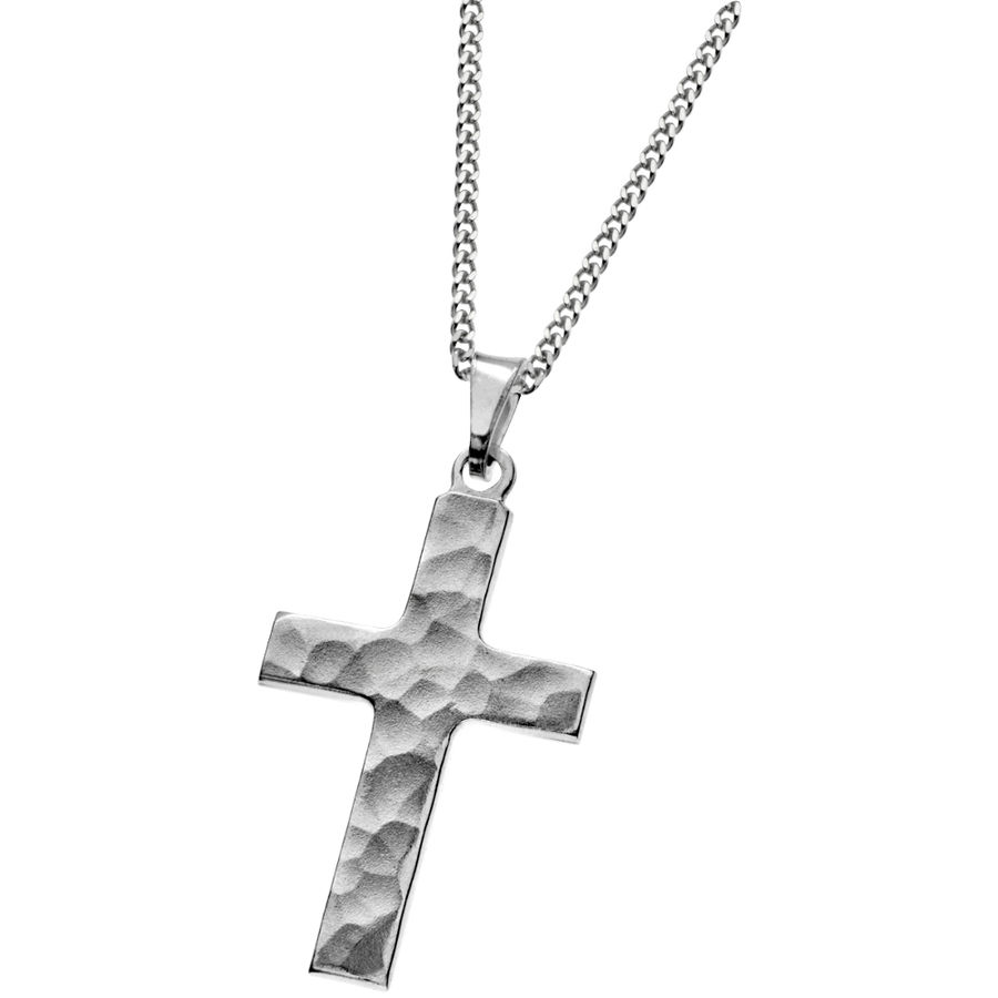 Silver cross pendant 17x28mm