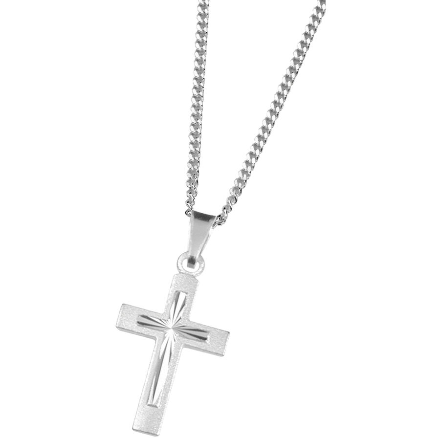 Silver cross pendant 11x20mm
