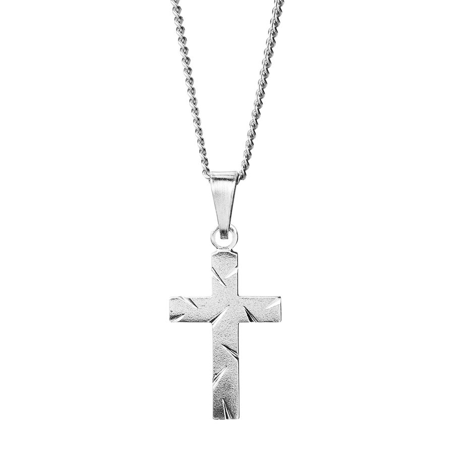 Silver Cross 20mm - Saurum Cross