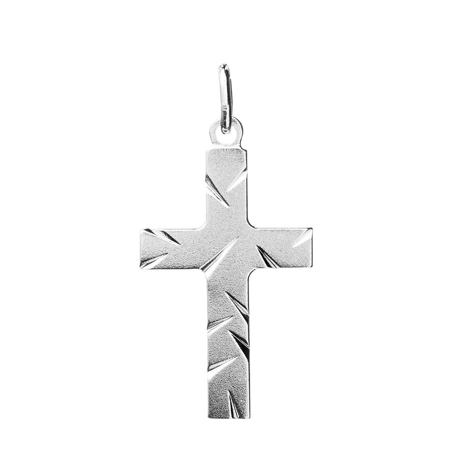 Silver Cross 30mm - Saurum Cross